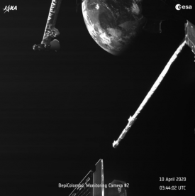Images captured by the cameras on BepiColombo during the flyby. Images: ESA/BepiColombo/MTM