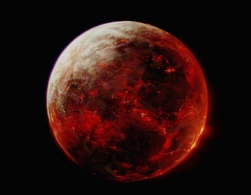 """Lava planet Mustafar from """"Star Wars"""". The movie underestimated the temperature of the fictional lava planet a bit: no human could survive in thousands of degrees. Credit: StarWars.com Database / Disney"""